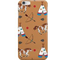 Native American pattern on brown iPhone Case/Skin
