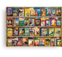 Travel Guide Book Shelf Canvas Print