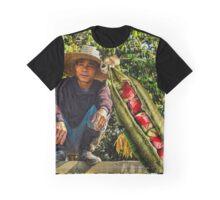 Pea Pod Blood Apple Harvest Graphic T-Shirt