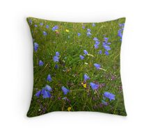 A sea of Harebells, Rossbeg, Co Donegal Throw Pillow