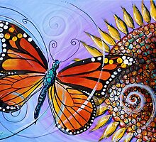 Abstract Butterfly and Sunflower Original Design, Scarpace, 2016 by 17easels