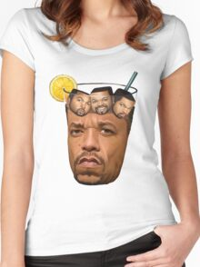 ice t ice cube 2016 Women's Fitted Scoop T-Shirt