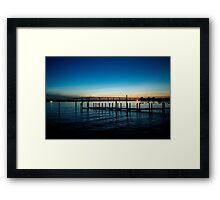 River Dusk Framed Print