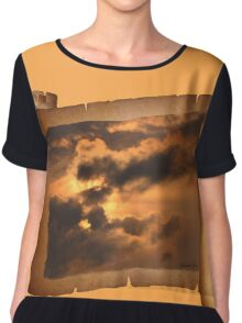 Ancient Dragon in the Sky ~ Clouds Chiffon Top