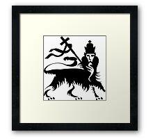 Congo Natty Logo - Lion with Cross Framed Print