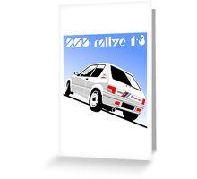 Peugeot 205 Rallye Greeting Card