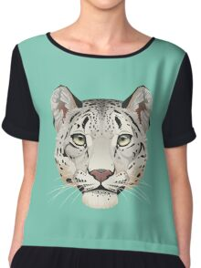 Snow Leopard Face Chiffon Top