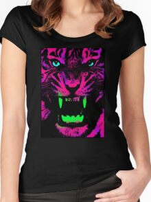 Tiger Pop T-shirt 01 Women's Fitted Scoop T-Shirt