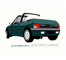 Peugeot 205 cabriolet Roland Garros Art Print