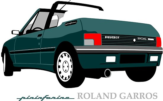 Peugeot 205 cabriolet Roland Garros by car2oonz