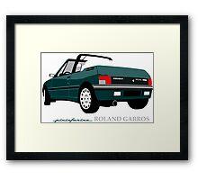 Peugeot 205 cabriolet Roland Garros Framed Print