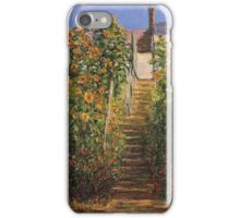 Claude Monet - The Steps At Vetheuil iPhone Case/Skin