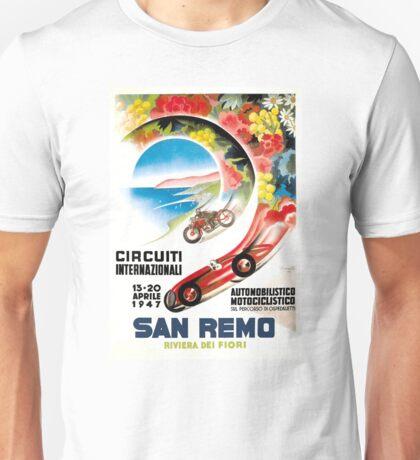 1947 San Remo Grand Prix Race Poster Unisex T-Shirt