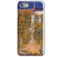 Claude Monet - The Artist S Garden At Vetheuil iPhone Case/Skin