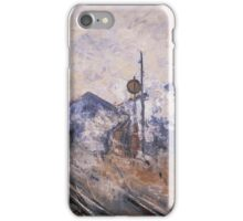 Claude Monet - Saint Lazare Station Track Coming Out iPhone Case/Skin
