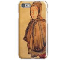Egon Schiele - Girl With Hood 1910 iPhone Case/Skin