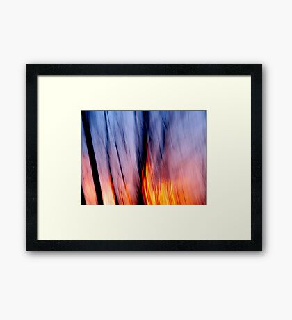 Out of the Blue into the Fire #1 Framed Print
