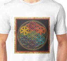 Earth Rainbow Flower of Life Unisex T-Shirt