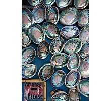 Paua Shells fro Sale Photographic Print