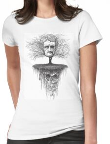 Edgar Allen Poe, Poetree Womens Fitted T-Shirt