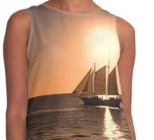 Sunset Sailing Contrast Tank