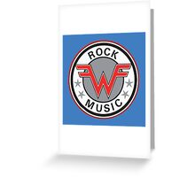 Rock Music Greeting Card