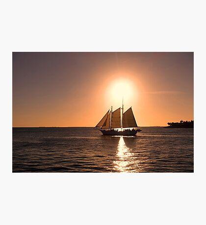 Sunset Sailing Photographic Print