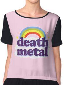 Death Metal Rainbow Chiffon Top