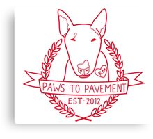 Paws To Pavement Dog Walking San Diego Red Canvas Print