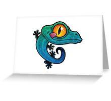 BLUE LIZARD Greeting Card