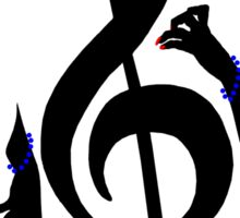 The Treble with Cello Girls Music Sticker