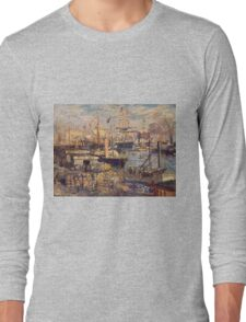 Claude Monet - The Grand Dock At Le Havre 1872 Long Sleeve T-Shirt