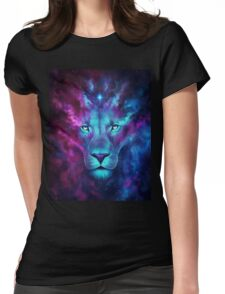 LION GALAXY TSHIRT Womens Fitted T-Shirt