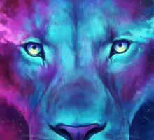 LION GALAXY TSHIRT Sticker