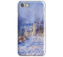 Claude Monet - Road To Giverny In Winter iPhone Case/Skin