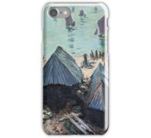 Claude Monet - The Departure Of The Boats Etretat iPhone Case/Skin