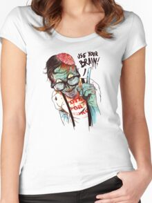 Use your brain Women's Fitted Scoop T-Shirt