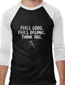 David Duchovny - Feels Good Feels Organic - White Men's Baseball ¾ T-Shirt