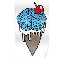 Brain Freeze Ice cream Poster