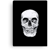 Skully's black and white Skull Canvas Print