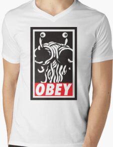 Obey Flying Spaghetti Monster Mens V-Neck T-Shirt