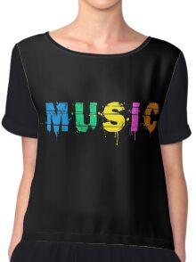 music colorful Chiffon Top