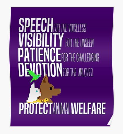 Protect Animal Welfare (white text) Poster