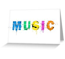 music colorful Greeting Card