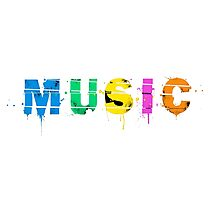 music colorful Photographic Print