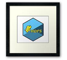 hdfs hadoop framework bigdata hexagonal hexagon Framed Print