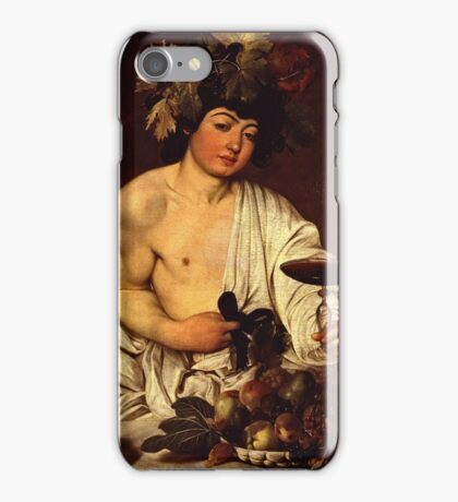 Caravaggio - The adolescent Bacchus (1595 - 1597)  iPhone Case/Skin