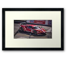 Ferrari 488 GTB GTLM Car Tearing up the Streets of Long Beach! Framed Print