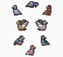 Mini Pixel Pigeons - Set of 8 by pixelatedcowboy