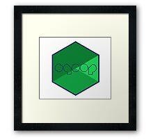 apache hadoop sqoop framework bigdata hexagonal hexagon Framed Print